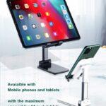 Supporto Regolabile a libro per Tablet e Smartphone Nero